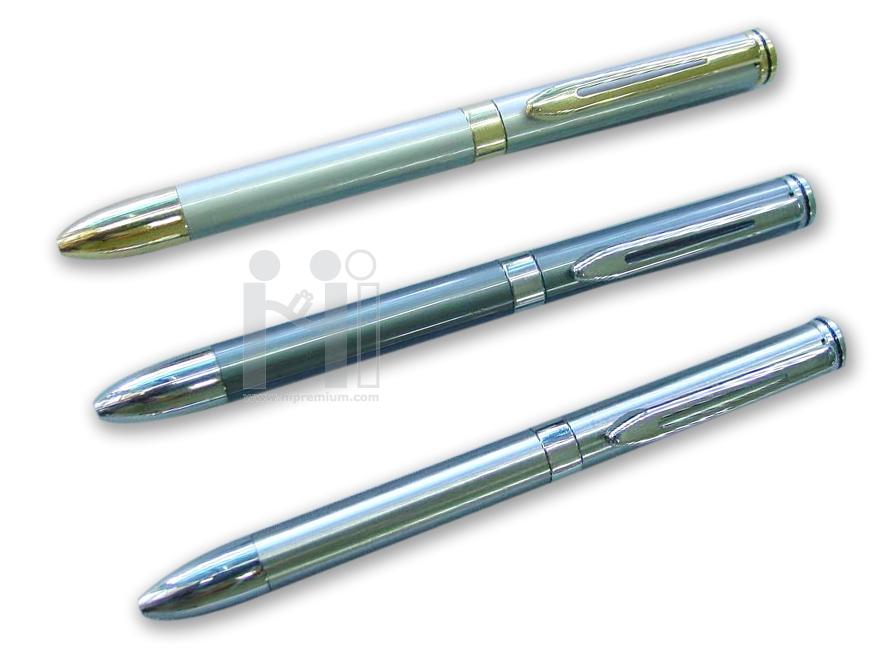 ปากกาโลหะ  2in1 ปากกา2ไส้