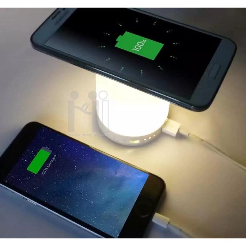 โคมไฟพาวเวอร์แบงค์ ไร้สาย<br>โคมไฟที่ชาร์จแบตสำรองไฟมือถือMP3,MP4ที่ชาร์ตแบตสํารองพกพาพรีเมี่ยม ขั้นต่ำ10ชิ้น