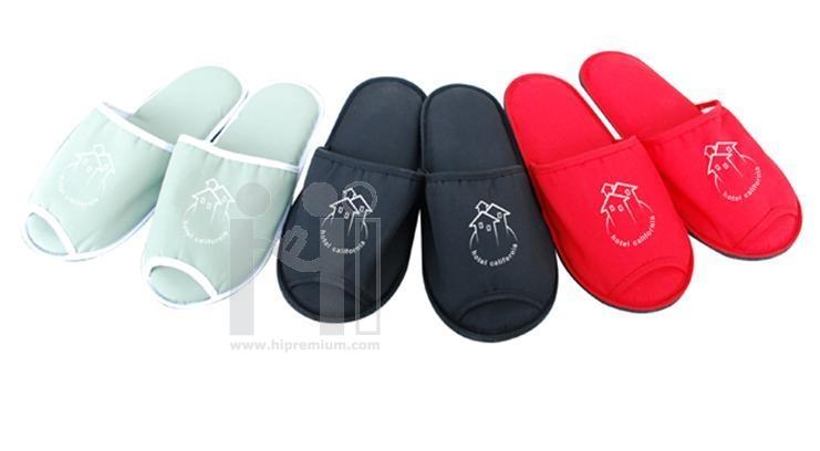 รองเท้าผ้าทรงหัวเปิด รองเท้าแตะ รองเท้าสำหรับใส่ในบ้าน
