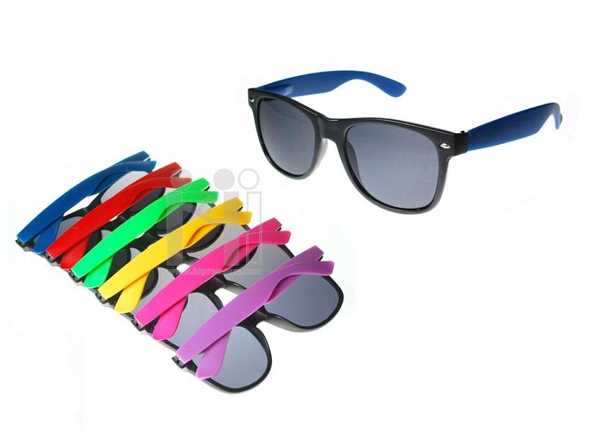 แว่นตากันแดดสีทูโทน แว่นกันยูวีตัดเลนส์ใหม่ พิมพ์โลโก้