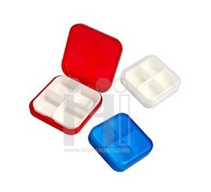 กล่องใส่ยาพกพา กล่องยา ตลับใส่ยา 4 ช่อง