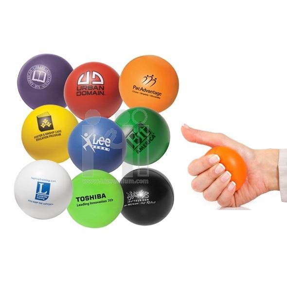 ลูกบอลบริหารมือ ลูกบอลบีบมือ Stress ball สกรีนโลโก้