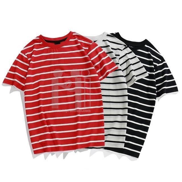 เสื้อลายขวาง เสื้อยืดคอกลม สั่งผลิตใหม่