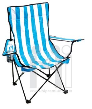 เก้าอี้ผ้าใบปิกนิคตัวใหญ่ พร้อมช่องใส่แก้วน้ำ
