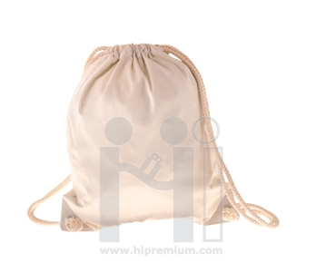 กระเป๋าผ้าดิบหนา เป้หูรูดผ้าดิบ