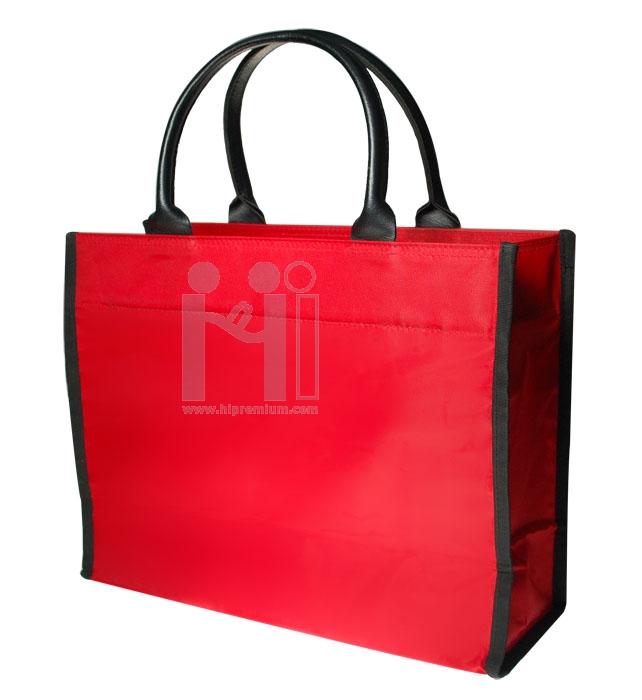 กระเป๋าช็อปปิ้งหูหิ้วหนัง (ใบกลาง)