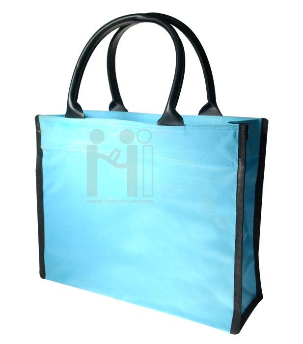กระเป๋าช็อปปิ้งหูหิ้วหนัง (ใบใหญ่)