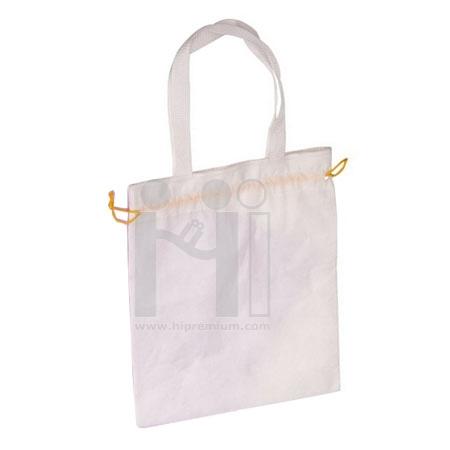 กระเป๋าช็อปปิ้งหูรูด ถุงผ้าสปันบอนด์
