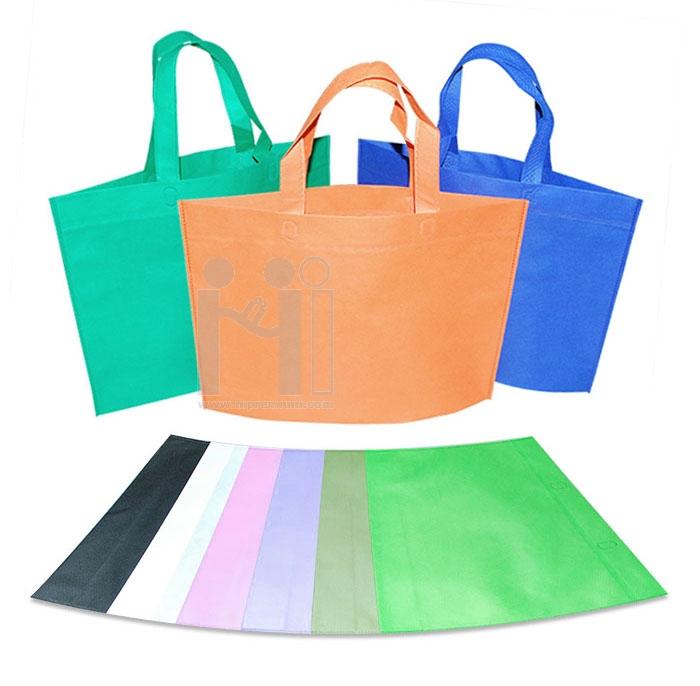 ถุงผ้าสปันบอนด์รีดร้อนไม่มีตะเข็บด้าย กระเป๋าสปันบอนด์สต๊อก มีฐานไม่มีข้าง