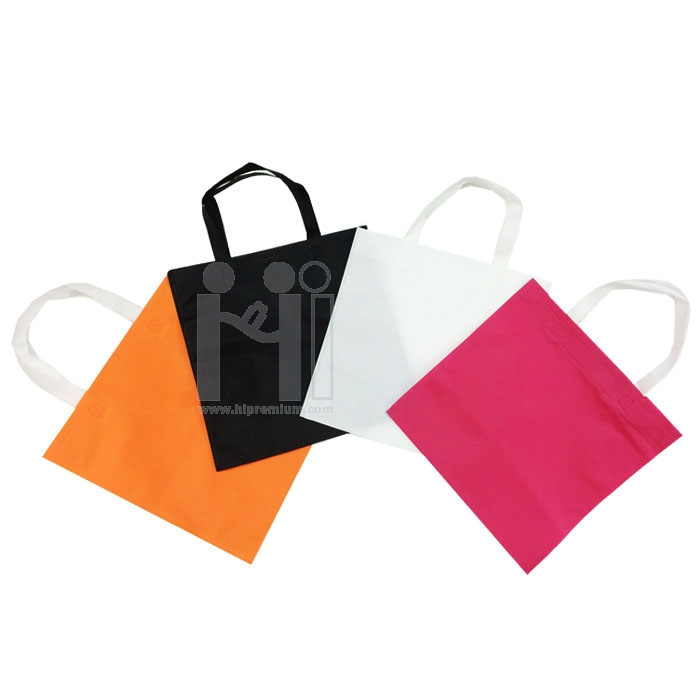ถุงผ้าสปันบอนด์รีดร้อนไม่มีตะเข็บด้าย<br> กระเป๋าสปันบอนด์สต๊อก ไม่มีฐานไม่มีข้าง