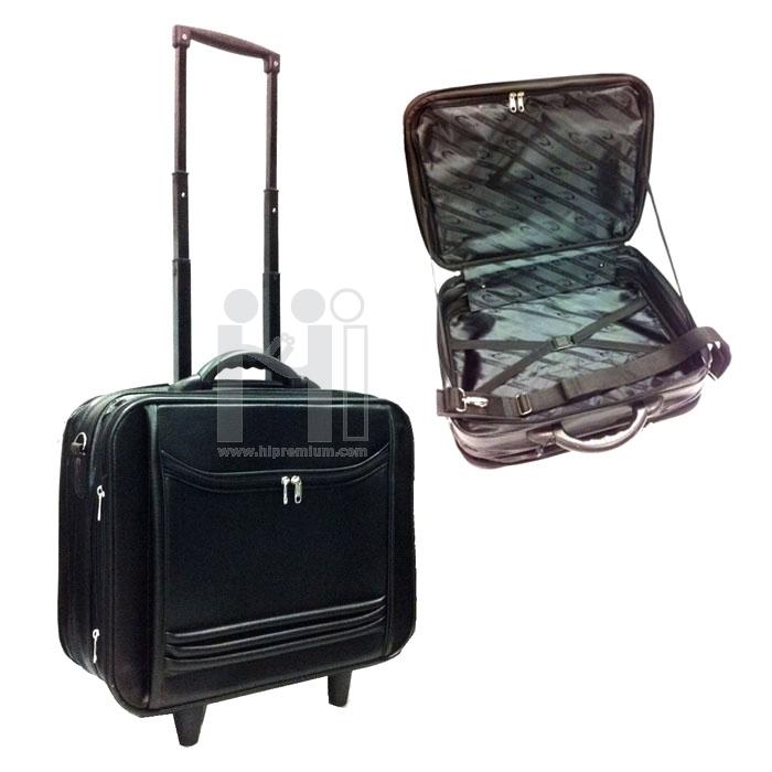 กระเป๋าล้อลากหนังเทียม กระเป๋าล้อลากสั่งผลิตใหม่
