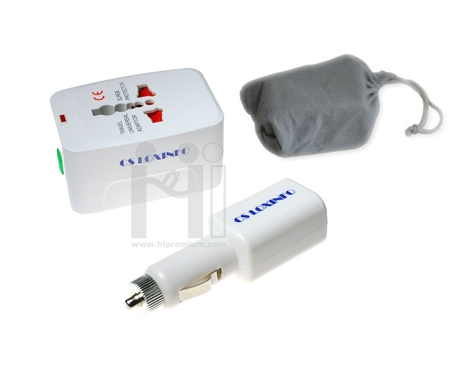 ชุดเซ็ต Adapter ที่ชาร์จแบตเตอรี่ในรถยนต์ & ปลั๊กไฟทั่วโลก