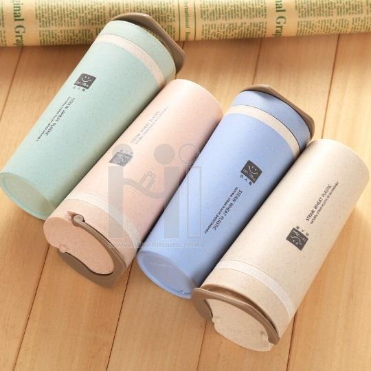 Eco Cup กระบอกน้ำฟางข้าวสาลี<br>Straw Wheat Plastic Cup