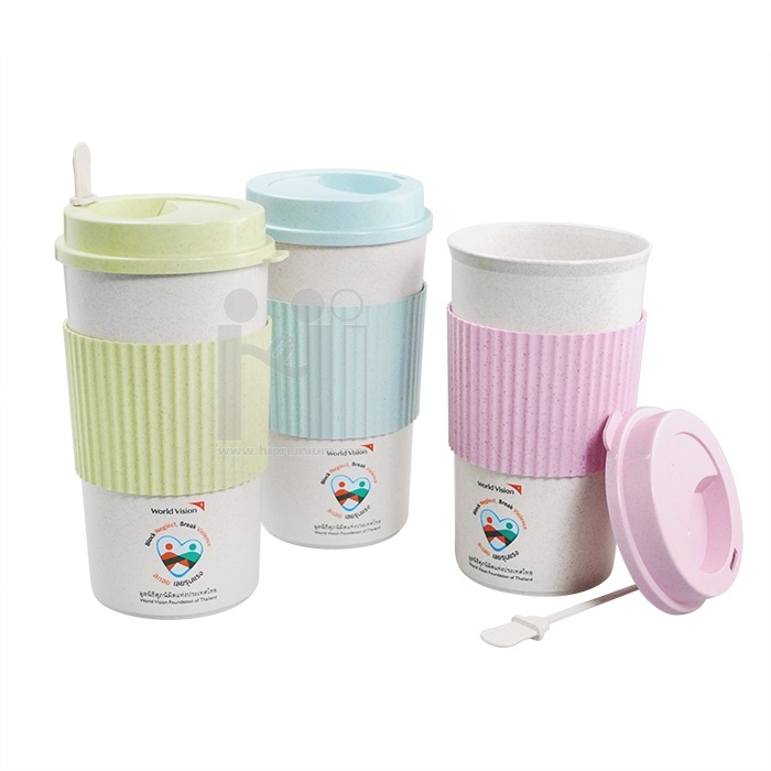 Eco Cup แก้วน้ำฟางข้าวสาลีStraw Wheat Plastic Cup