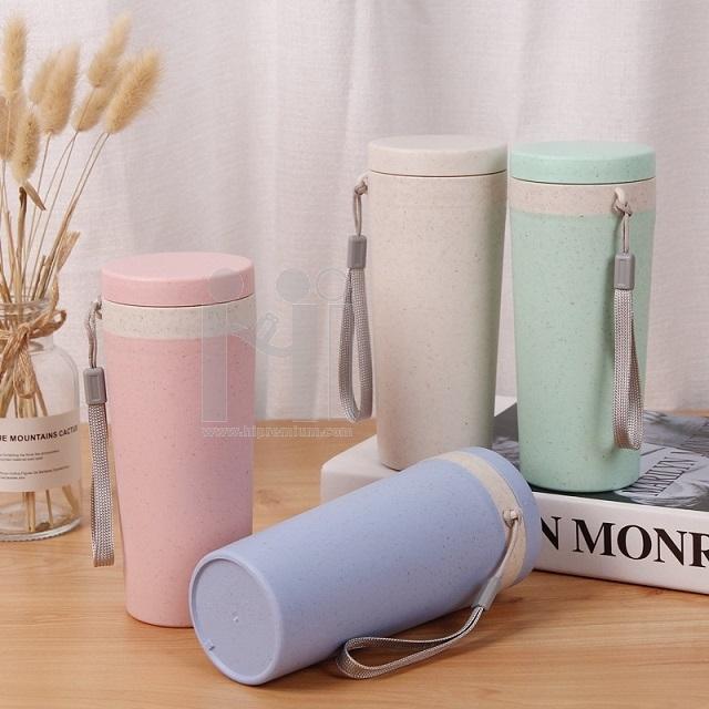 Eco Cup กระบอกน้ำฟางข้าวสาลีStraw Wheat Plastic Cup