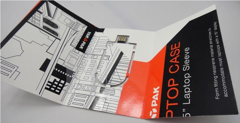 แฟลชไดร์ฟแผ่นพับโบรชัวร์ ออกแบบสั่งพิมพ์ตามสั่งแบบไม่มีความจุ