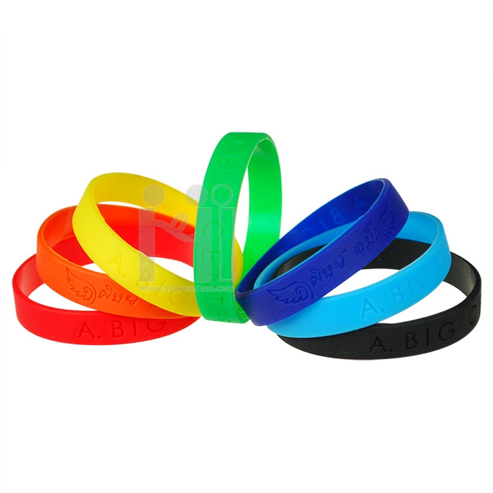 Wristband ริสแบนด์สีเดียว <br>สายรัดข้อมือซิลิโคนริสแบนกว้าง1ซม.