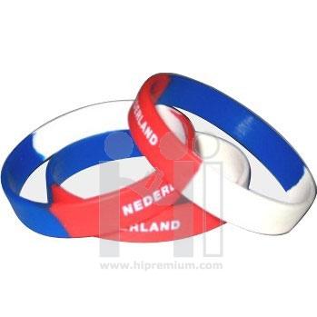 Wristband ริสแบนด์ทูโทน สายรัดข้อมือซิลิโคนริสแบนกว้าง1ซม.