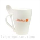 แก้วกาแฟเซรามิกมัคพร้อมช้อน New bone<br>สั่งขั้นต่ำ100ใบ