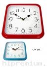 นาฬิกาแขวนสี่เหลี่ยม 10  นิ้ว ขอบพลาสติก