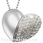 Flash Drive แฟลชไดร์ฟจิวเวอรี่รูปหัวใจประดับคริสตัล