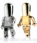 USB Robot Flash Drive แฟลชไดรฟ์ หุ่นยนต์ แฟลชไดร์ฟโรบอทสีเงิน,สีทอง