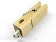 Wooden USB Flash Drive แฟลชไดร์ฟไม้รูปไม้หนีบผ้า
