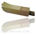 Wooden USB Flash Drive แฟลชไดร์ฟไม้พร้อมกระดาษโน้ตโพสต์อิทในตัว