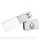 3D crystal USB flash drive <br> แฟลชไดร์ฟแก้วคริสตัลใส3มิติ แฟลชไดร์ฟเรืองแสงเลือกสีของแสงได้