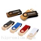 Wooden USB Flash Drive แฟลชไดร์ฟไม้จริง แฟลชไดรฟ์ไม้สลับโลหะสีดำ
