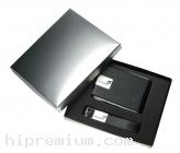 ชุดกล่องของขวัญกิ๊ฟเซ็ท Gift Set<br>กล่องใส่นามบัตรและพวงกุญแจหนังเทียม<br>สั่งขั้นต่ำ 100 ชุด