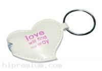 พวงกุญแจไฟฉายหนังรูปทรงหัวใจ<br>สั่งทำแบบใหม่ตามต้องการ