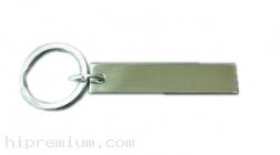 พวงกุญแจโลหะสำเร็จรูปสแตนเลส ทรงเหลี่ยมเล็กบาง