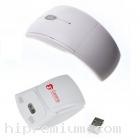 เมาส์ไร้สายพับได้ บอดี้โค้งSlimบางสั่งขั้นต่ำ100ชิ้น<br>2.4Ghz USB Wireless Mouse