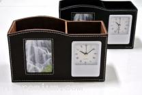 นาฬิกากรอบรูปตั้งโต๊ะ พร้อมช่องใส่ของอเนกประสงค์<br>นาฬิกาสต๊อกสั่งขั้นต่ำ100ชิ้น