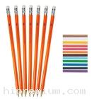 ดินสอไม้กลมมียางลบ เลือกสีได้<br>สั่งขั้นต่ำ500แท่ง
