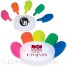 ปากกาไฮไลท์5สี ปากกาเน้นข้อความรูปมือ<br>สั่งขั้นต่ำ100ชิ้น