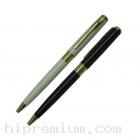 ปากกาโลหะสีขาวมุก,สีดำ