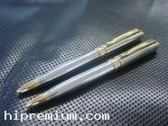 ปากกาโลหะ ด้ามโครเมี่ยม อะไหล่สีทอง