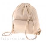 กระเป๋าผ้าดิบหนา เป้หูรูดผ้าดิบ<br> ขั้นต่ำเพียง100ใบ