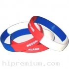Wristband ริสแบนด์ทูโทน<br> สายรัดข้อมือซิลิโคนริสแบนกว้าง1ซม